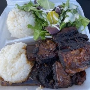 Oriental Braised Short Ribs Plate Lunch